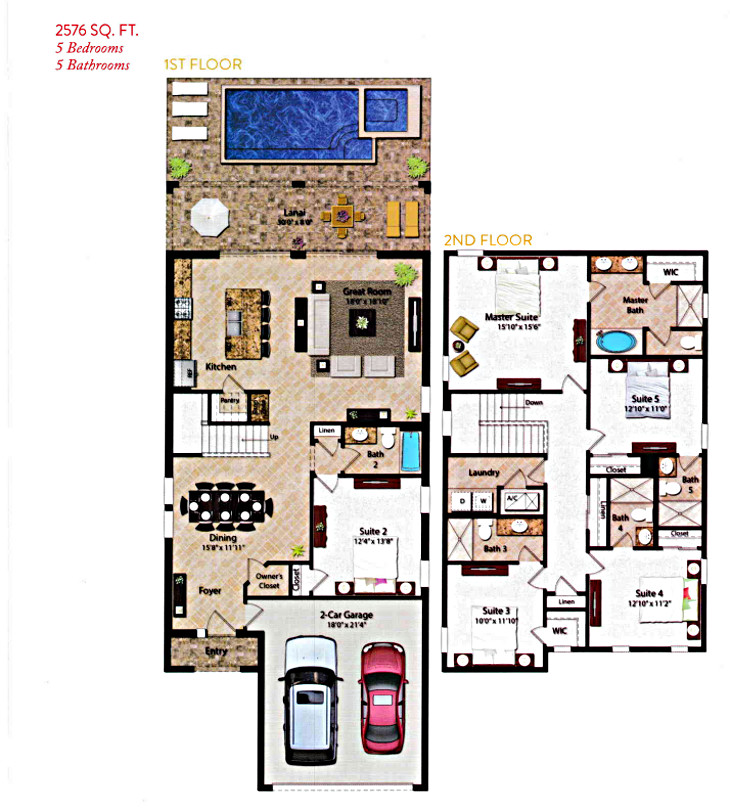 reunion vacation home 5 bed